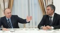 Vladimir Poutine choisit un très proche, Vyacheslav Volodin, comme président de la Douma