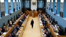 Le Parlement de Wallonie lors du débat sur le traité de libre-échange entre l'UE et le Canada (CETA), le 14 octobre 2016.