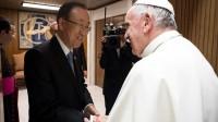 Ban Ki-moon salue le soutien du pape François aux Objectifs du développement durable (ODD) de l'ONU