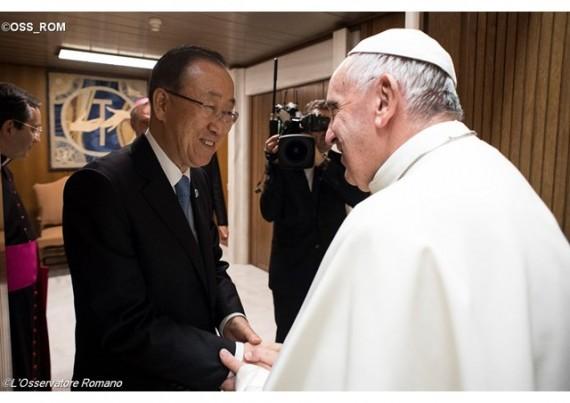 pape François Objectifs développement durable ODD Ban Ki moon soutien