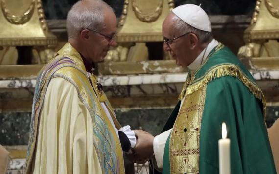 rencontre pape François archevêque anglican Cantorbéry Justin Welby