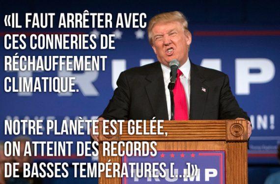 Climat grande peur réchauffistes Donald Trump