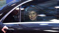 Arrivée de Theresa May, Première ministre britannique, au sommet européen, le 19 octobre 2016 à Bruxelles.