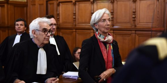 FMI confiance Christine Lagarde condamnée justice française
