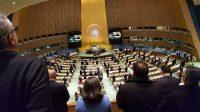 Hommage officiel dans la Salle de l'assemblée générale de l'ONU,à New York le 20 décembre 2016.