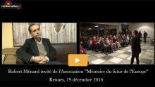 Robert Ménard interviewé par Reinformation.tv sur la sortie de son livre «Abécédaire de la France qui ne veut pas mourir»