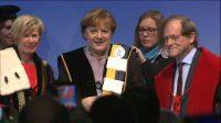 Angela Merkel docteur honoris causa à Louvain et à Gand pour saluer sa lutte pour les «valeurs européennes»