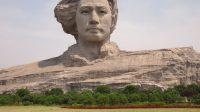 Chine : sculpture de Mao située à Changsha, mesurant 32 mètres de hauteur