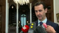 Bachar El-Assad lors de son interview le 8 janvier 2017