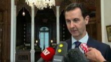 Bachar El-Assad lors de son interview le 8 janvier 2017