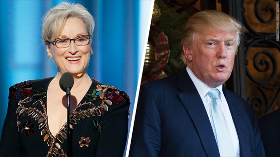 People Contre Trump Meryl Streep Golden Globe Awards
