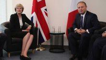 Theresa May et Joseph Muscat