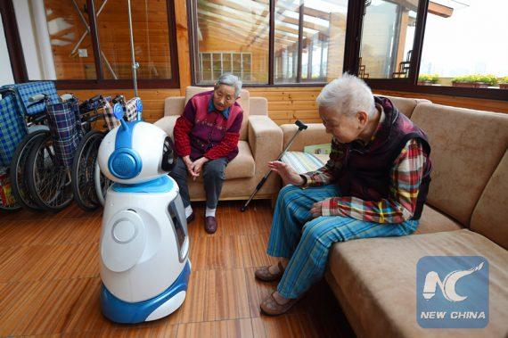 Chine intelligence artificielle santé soins personnes âgées
