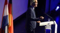 Geert Wilders, lors de la conférence commune avec le FN et l'allemand AfD, le 21 janvier dernier à Coblence, en Allemagne.
