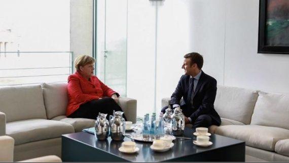 Berlin Macron présente seul candidat pro européen