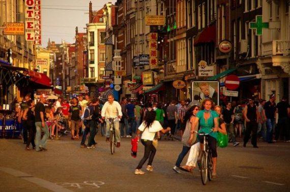 Blancs néerlandais minorité ethnique centre ville Pays Bas