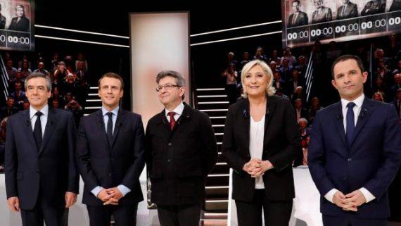 Débat Fillon Mélenchon Le Pen Hamon Macron Zéro