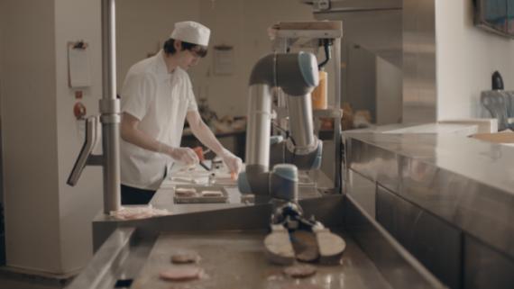 Robot travail steak
