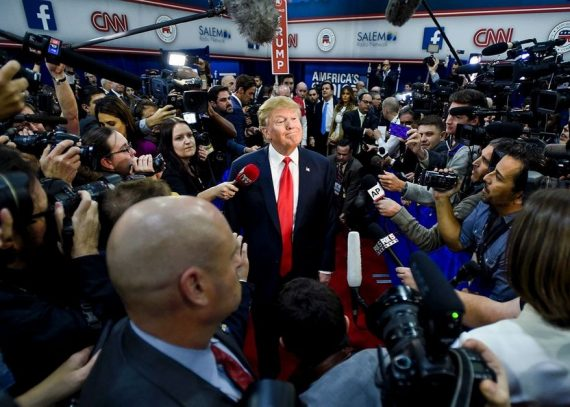 Trump media reportages hostiles