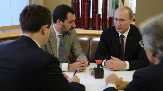 parti Russie unie signe accord coopération Ligue Nord Italie