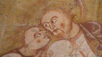 (Le baiser de Judas, détail d'une fresque de l'église Saint-Martin à Nohant-Vic)