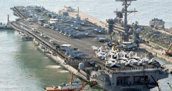 Etats Unis Corée Nord menace porte avions USS Vinson