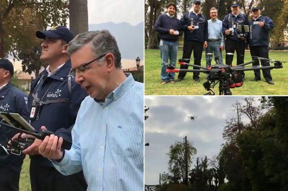 Parler délinquants moyen drones innovation chilienne