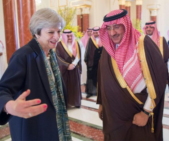 Theresa May Arabie saoudite actions Aramco Londres marché