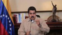 Le président venezuelien Nicolas Maduro lors d'une intervention télévisée le 18 avril 2017.