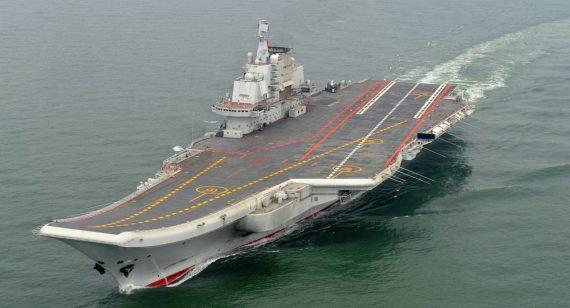 premier porte avions construction chinoise prendre la mer