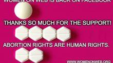 Facebook rétablit une page vendant des pilules pour avortements clandestins.Et celle de reinformation.tv?