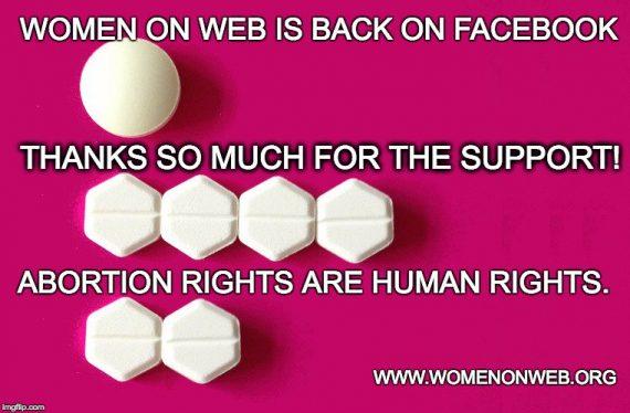 Facebook pilules avortements clandestins reinformation tv rétablit page