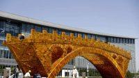 L'œuvre artistique « Le pont d'or de la route de la soie »