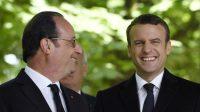 François Hollande et Emmanuel Macron le 10 mai 2017.