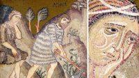 Adam travaille la terre à la sueur de son front (Palerme, Chapelle Palatine)