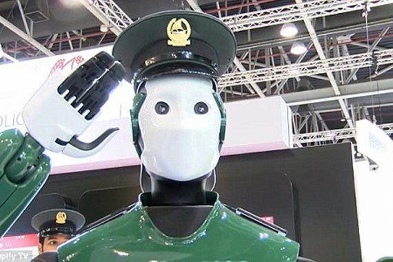 Robocop GISEC Dubaï robot policier