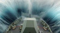 La photo: une bouée automatique a enregistré une vague de 19,5 mètres à quelque 650 km au large de la Nouvelle-Zélande, samedi