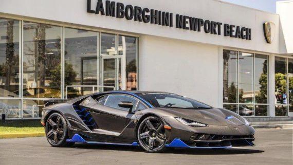 première Lamborghini Centenario mains Américain