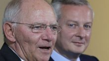 Wolfgang Schäuble (au premier plan) et Bruno Le Maire