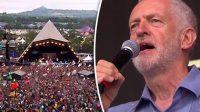 La photo:Corbyn comme Macron:à l'ombre d'une pyramide