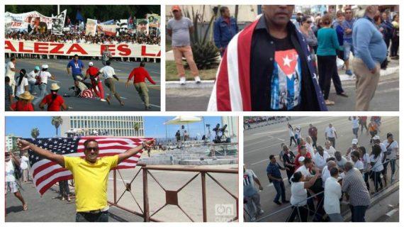 Cubain drapeau américain croire Dieu asile