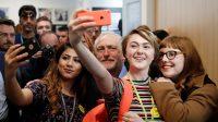 Jeremy Corbyn, leader du parti travailliste en campagne à Leeds,le 10 mai 2017.