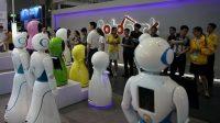 Salon international du robot, à Shanghai, en Chine, le 5 juillet 2017.