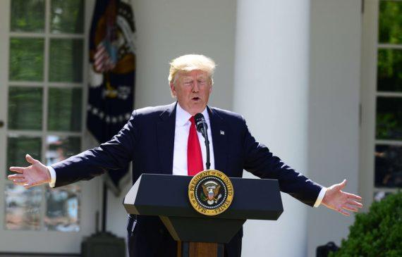 Donald Trump Accord Paris roi nu