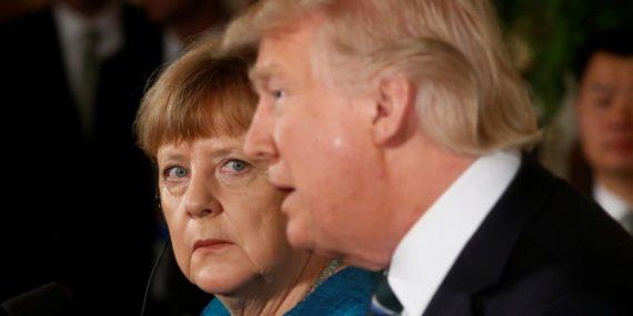 Etats Unis Allemagne Trump Merkel amis