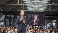 Le président de la République, Emmanuel Macron, lors de l'inauguration de Station F, à Paris le 29 juin 2017.