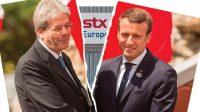 Entre Paolo Gentiloni, président du conseil italien, et Emmanuel Macron: la bataille navale est engagée.