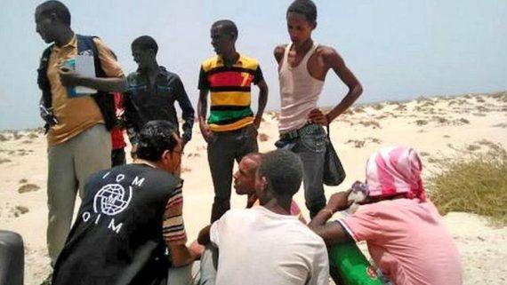 120 Somaliens Ethiopiens jetés eau passeurs côtes Yéménites
