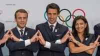 La photo:Pour fêter les JO de Paris de 2024, une belle «chaîne d'union» avec le président Macron