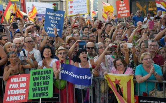 Manifestation Barcelone Espagne Soumission Islam Mondialisme Europe Centrale Révolte